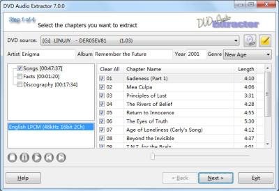 DVD Audio Extractor 8.1.2 screenshot