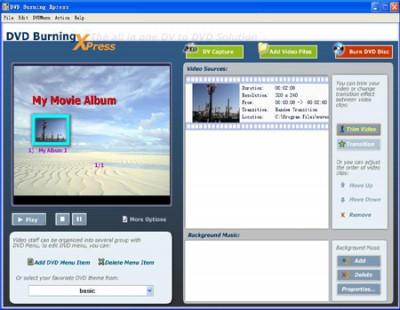 DVD Burning Xpress 3.31 screenshot