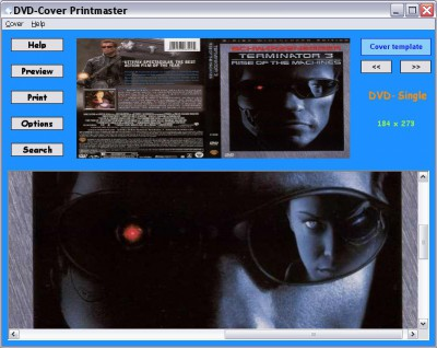 DVD-Cover Printmaster 1.4 screenshot