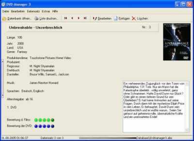 DVD-Manager 3.7 screenshot