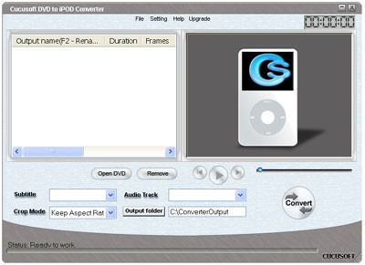 DVD to iPod/Video Converter 3.8 screenshot