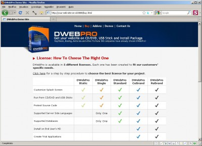 DWebPro 8.4.4 screenshot