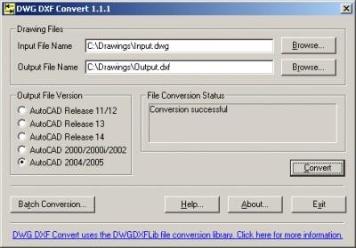DWG DXF Convert 1.0 screenshot