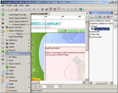 Dynamic HTML Editor 6.8 screenshot