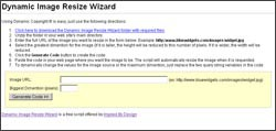 Dynamic Image Resize Wizard 1.0 screenshot