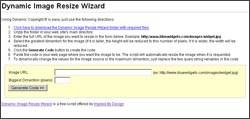 Dynamic Image Resize Wizard 1.0 screenshot