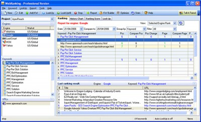 Dynamic Web Ranking 5.0 screenshot