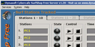 Dynasoft Cybercafe SurfShop Free 2.04 screenshot
