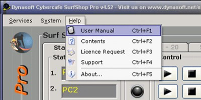 Dynasoft Cybercafe SurfShop Pro 5.06 screenshot