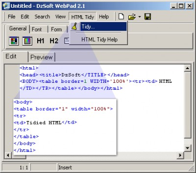 DzSoft WebPad 2.3.0.2 screenshot