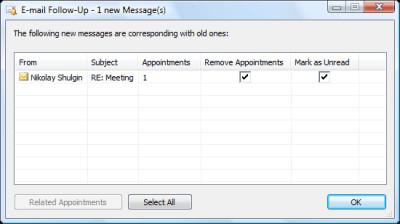 E-mail Follow-Up 1.11.1.4 screenshot