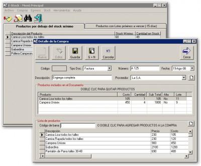 E-Stock Control de Stock 4.4.1 screenshot