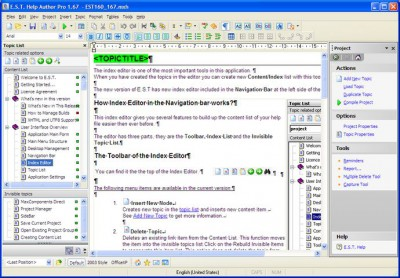 E.S.T. Help Author Pro 1.80 screenshot