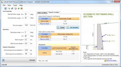 Earth Pressure Analysis Software LateralK 3.0 screenshot