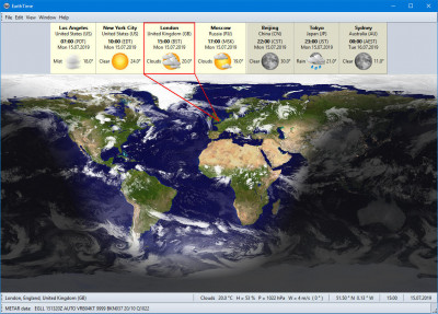 EarthTime 4.5.10 screenshot