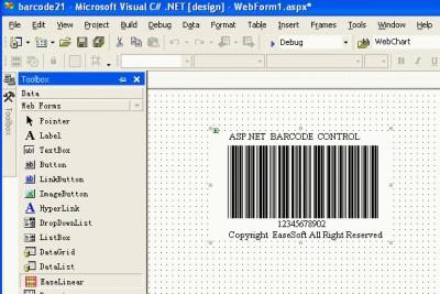 EaseSoft ASP.NET Barcode Control 3.0.0 screenshot