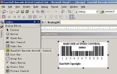 EaseSoft Barcode ActiveX Control 3.5 screenshot