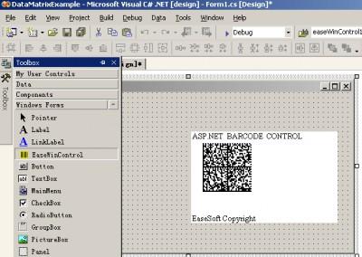 EaseSoft DataMatrix  ASP.NET Web Control 4.0.0 screenshot