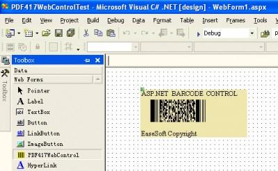 EaseSoft PDF417 Barcode ASP.NET Control 4.0.0 screenshot