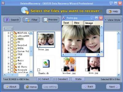 EASEUS DataRecoveryWizard Professional 2.0 screenshot