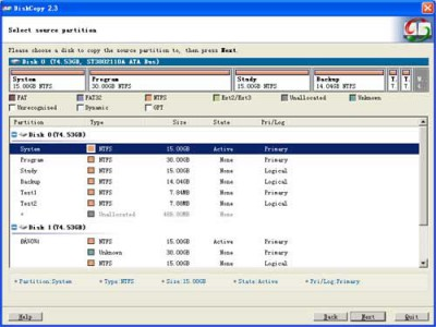 EASEUS Disk Copy 2.3 screenshot