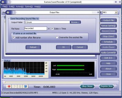 Eastsea Sound Recorder 3.50 screenshot