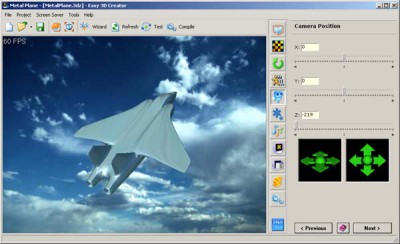 Easy 3D Creator 3.0 Freewa screenshot