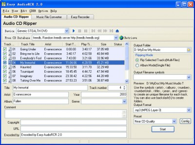 Easy Audio RCR 2.1 screenshot