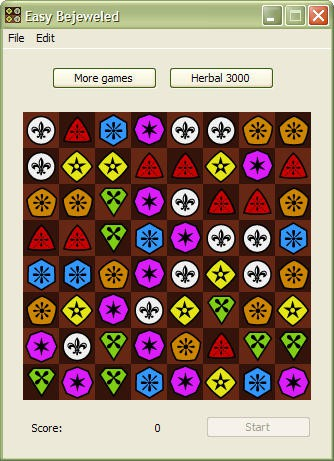 Easy Bejeweled 0.9 screenshot