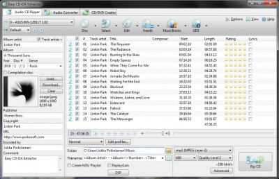 Easy CD-DA Extractor 16.0.7 screenshot