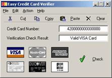Easy Credit Card Verifier 1.13 screenshot