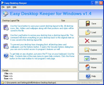 Easy Desktop Keeper 10.0 screenshot
