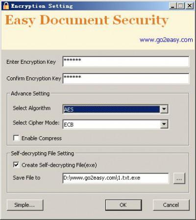 Easy Document Security 2.0 screenshot