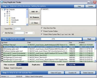 Easy Duplicate Finder 2.2 screenshot
