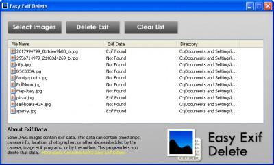 Easy Exif Delete 1.0 screenshot