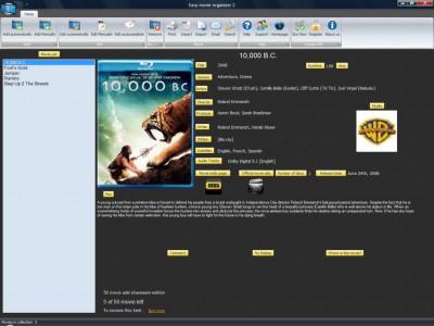 Easy movie organizer 2.0 screenshot