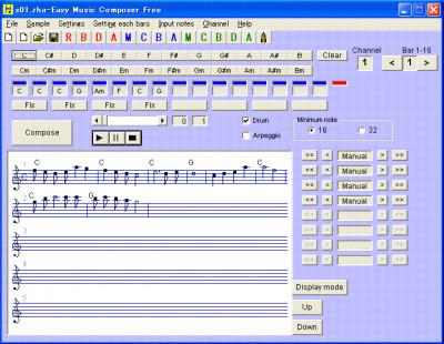 Easy Music Composer 9.97 screenshot