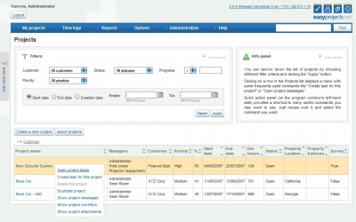 Easy Projects .NET 5.0 screenshot