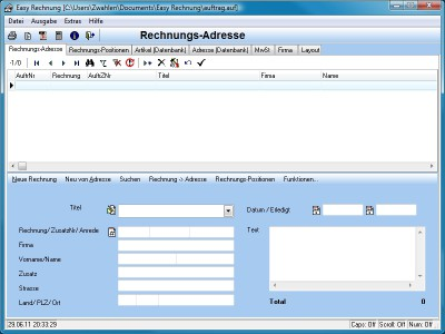 Easy Rechnung 5.0 screenshot
