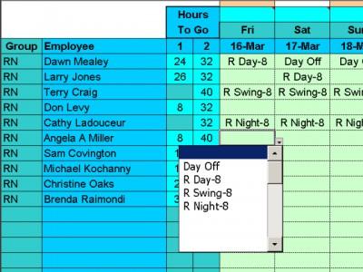 Easy Shift Scheduler for Excel 3.14 screenshot