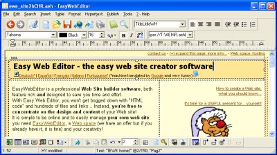 Easy Web Editor Français - créer un site Web 2010.26.24 screenshot