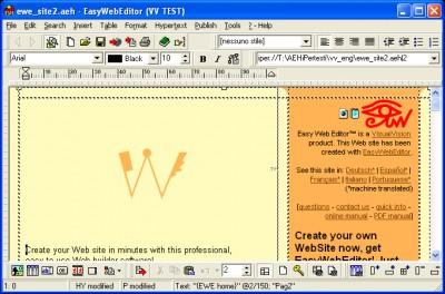 Easy Web Editor website creator 2005.20.19 screenshot