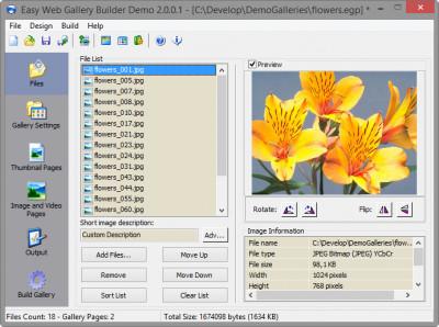 Easy Web Gallery Builder 2.2.0.1 screenshot