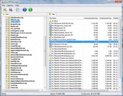 Easy ZIP Recovery 2.0 screenshot