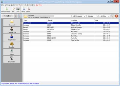 EasyBilling Maker of Sales Document 4.9.3 screenshot