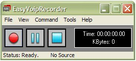 easyvoiprecorder 1.2 screenshot
