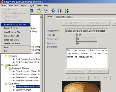 EasyWare B2B Commerce 7.006B screenshot