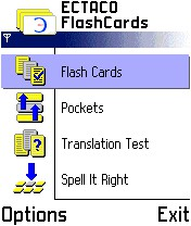 ECTACO FlashCards English <-> Russian for Nokia 1.1.7 screenshot