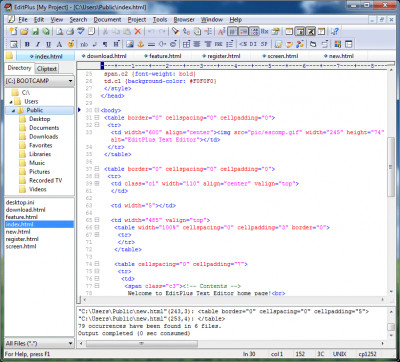 EditPlus 4.0 screenshot