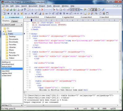 EditPlus 4.0 screenshot
